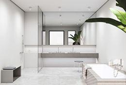 Nowoczesna łazienka w bieli