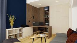 Gabinet do pracy z drewnianymi dekoracjami