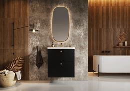Aranżacja łazienki z użyciem drewna i betonu