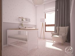 Sypialnia małego dziecka w odcieniach bieli i szarości