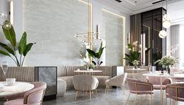 Jasna restauracja w stylu glamour