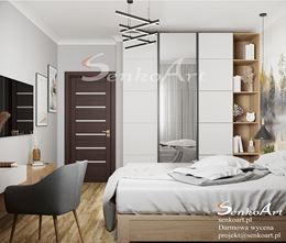 Sypialnia z pojemną szafą