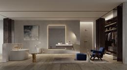 Aranżacja dużej łazienki z garderobą