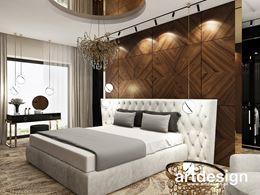 Drewniane, dekoracyjne panele w sypialni