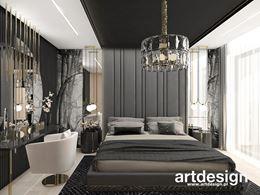 Luksusowa aranżacja sypialni w czerni