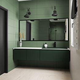 Zielona łazienka z kolekcją Paradyż Nightwish