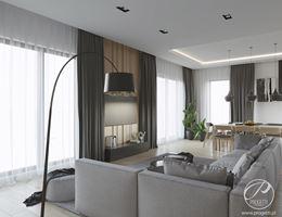 Ścianka telewizyjna 3d w wypoczynkowym salonie