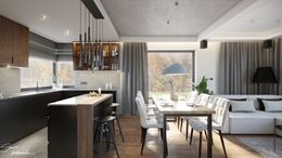 Bar śniadaniowy i jadalnia w otwartej przestrzeni