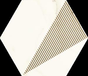 Paradyż Calacatta Hexagon Mat. C