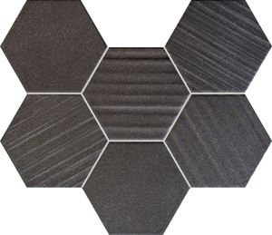 Tubądzin Horizon hex black