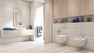 Szafka nad stelażem wc - praktyczne rozwiązanie