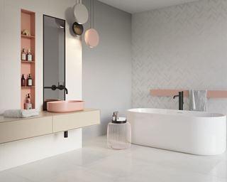 Łazienka w pastelowych odcieniach