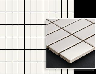 Paradyż Albir Bianco Mozaika Prasowana K.2,3X4,8