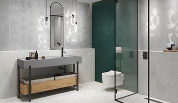 Łazienka w szarościach w nowoczesnym stylu