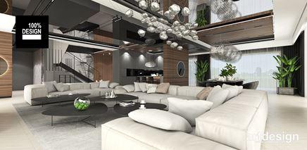 Projekt luksusowego salonu w neutralnych odcieniach