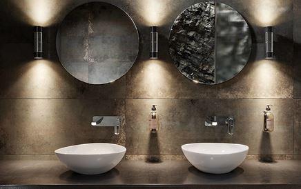 Toaleta publiczna w industrialnym klimacie