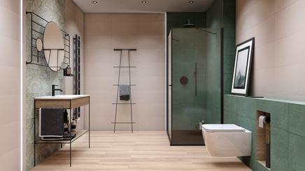 Zielona łazienka - Tubądzin Touch