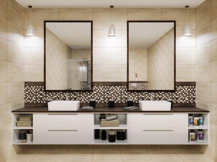 Łazienka z kolekcją Tubądzin Fiorino