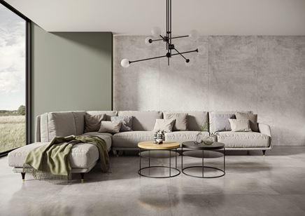 Salon wypoczynkowy w szarej kolorystyce