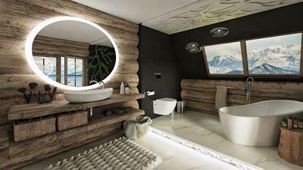 Łazienka w drewnianych balach
