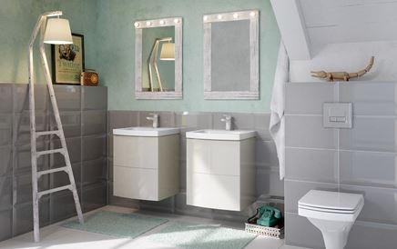 Rodzinna łazienka w szarościach