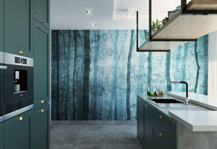 Aranżacja nowoczesnej kuchni w odcieniach zieleni