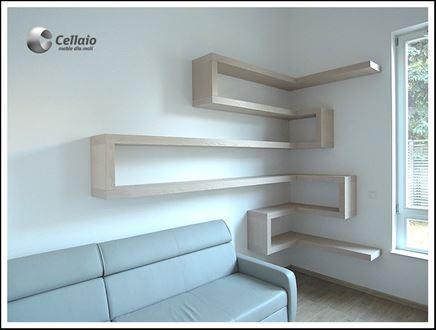 Cellaio - narożny zestaw półek na książki