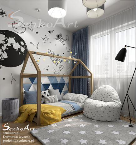 Pokój dziecięcy dla małego astronauty