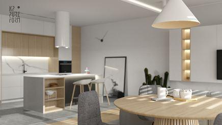 Soft Minimal_minimalistyczny projekt mieszkania