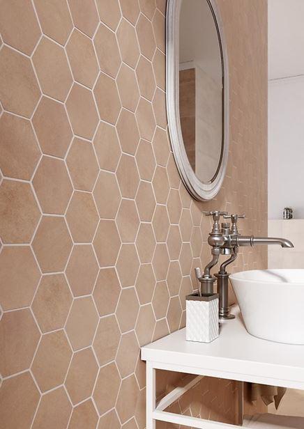 Beżowa mozaika heksagonalna Arlequini