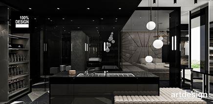 Garderoba z czarnym sufitem
