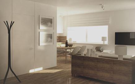 Minimalistyczne mieszkanie na warszawskiej Woli