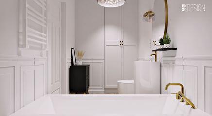 Łazienka z lamperią z płytek