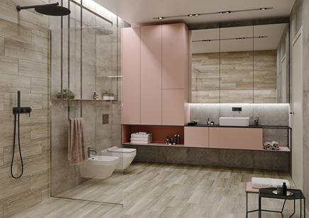 Delikatna łazienka w kolekcji Pure Wood