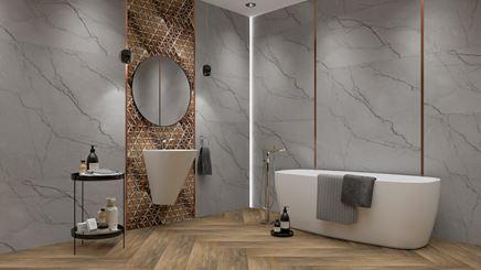 Łazienka w złocie i marmurze