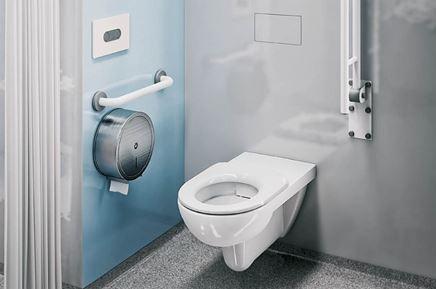 Strefa toaletowa z udogodnieniami dla osób niepełnosprawnych