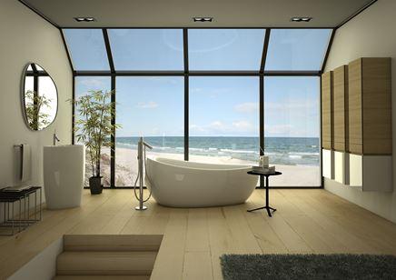 Aranżacja nowoczesnej łazienki z ceramiką wolnostojącą