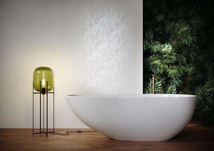 Jasna łazienka z motywem liści