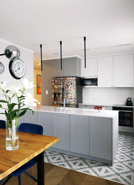 Mieszkanie inspirowane stylem kamienicznym