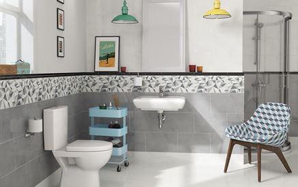 Retro łazienka w szarościach