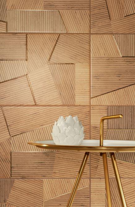 Drewniane dekory z kolekcji Domino Flare