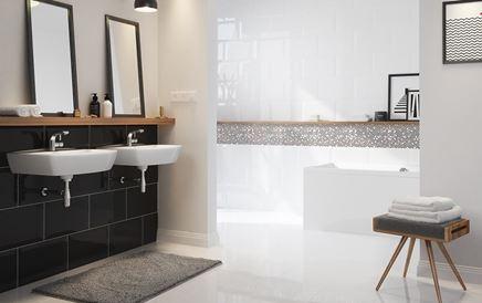 Nowoczesna łazienka z dużymi kaflami