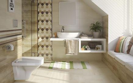 Aranżacja przytulnej łazienki w beżowych tonach