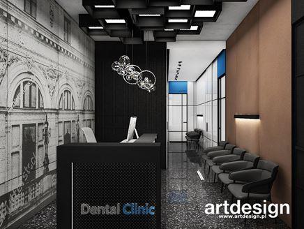 Nowoczesna poczekalnia w klinice dentystycznej