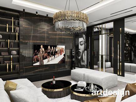 Luksusowy salon glamour ze złotem