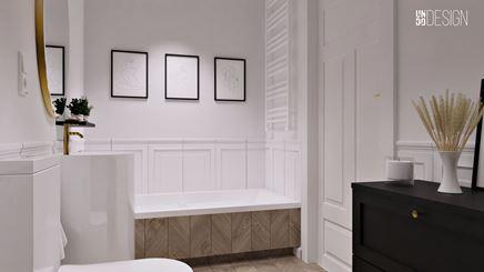 Elegancka, klasyczna łazienka z wanną