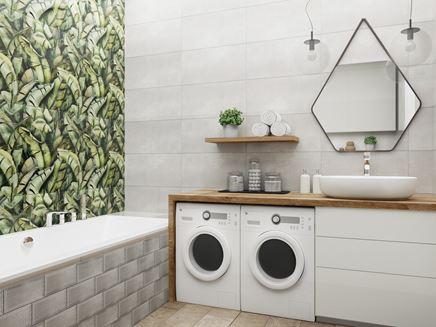 Aranżacja nowoczesnej łazienki z roślinnymi dekorami