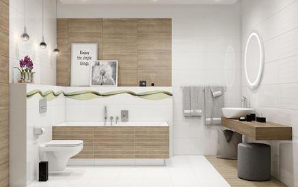 Nowoczesna łazienka w bieli i brązie