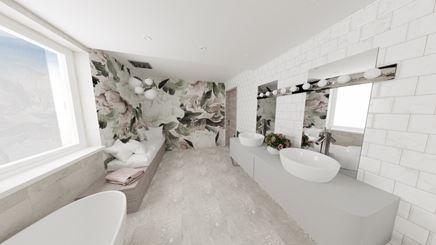 Łazienka z motywem Kwiatowym
