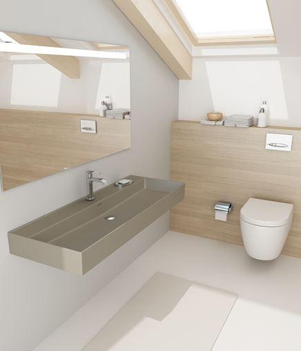 Jasna, nowoczesna łazienka na podaszu